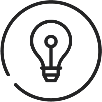 Innovation icon (lightbulb)