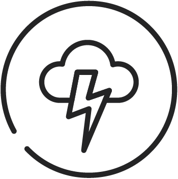 Natural Disaster icon (cloud with lightening bolt)