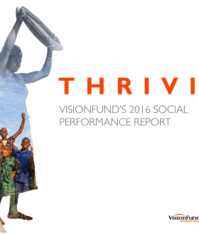 VisionFund Social Performance Report 2016 Cover