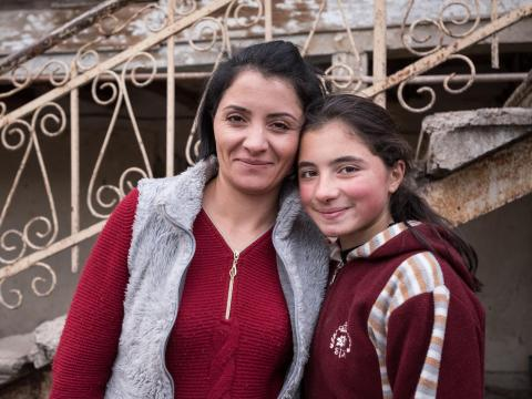 Mother and daughter from Armenia