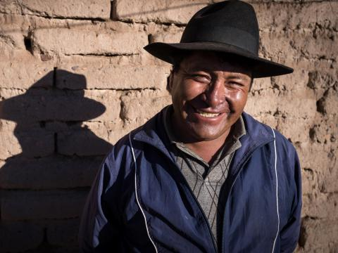 Man standing in front of wall from Bolivia