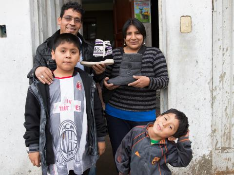 family who owns sewing business in Guatemala