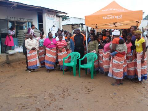 Idah and the savings group that she leads of nine women in Malawi.