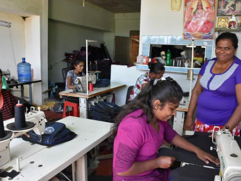 Kanthi is proud to have built up her business, Super Lucky Lanka, amidst hardships, educate her youngest son and provide employment for women in her community.