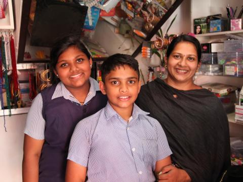 Rosemary's husband Santosh also owns a business in the nearby fish market. Their children Luz Maria (12) and Lin Joseph (9) study in a school nearby.