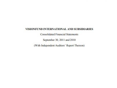 VisionFund Annual Financial Report FY11 Cover