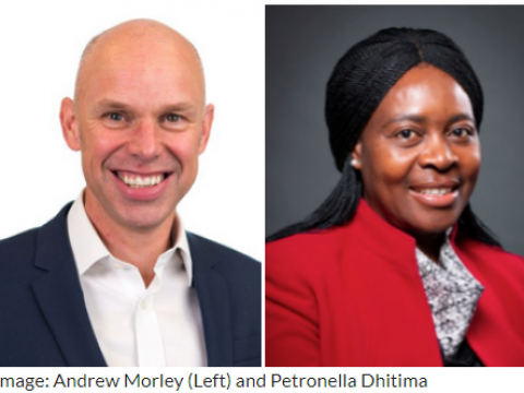 New board members Andrew and Petronella