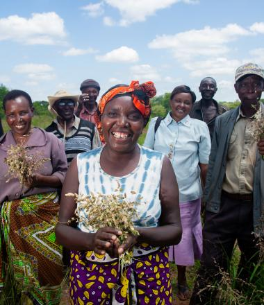 Group of farmers in Kenya