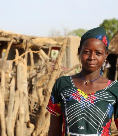 Woman standing in rural Mali