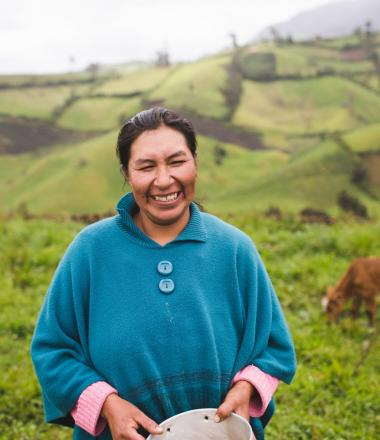 Women on her farm in Ecuador