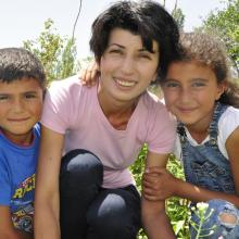 Mother with two kids from Armenia