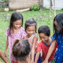 Children in a circle from the Philippines